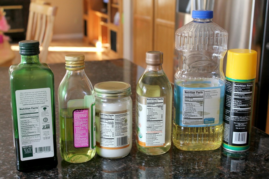 Different bottles of oils from different brands