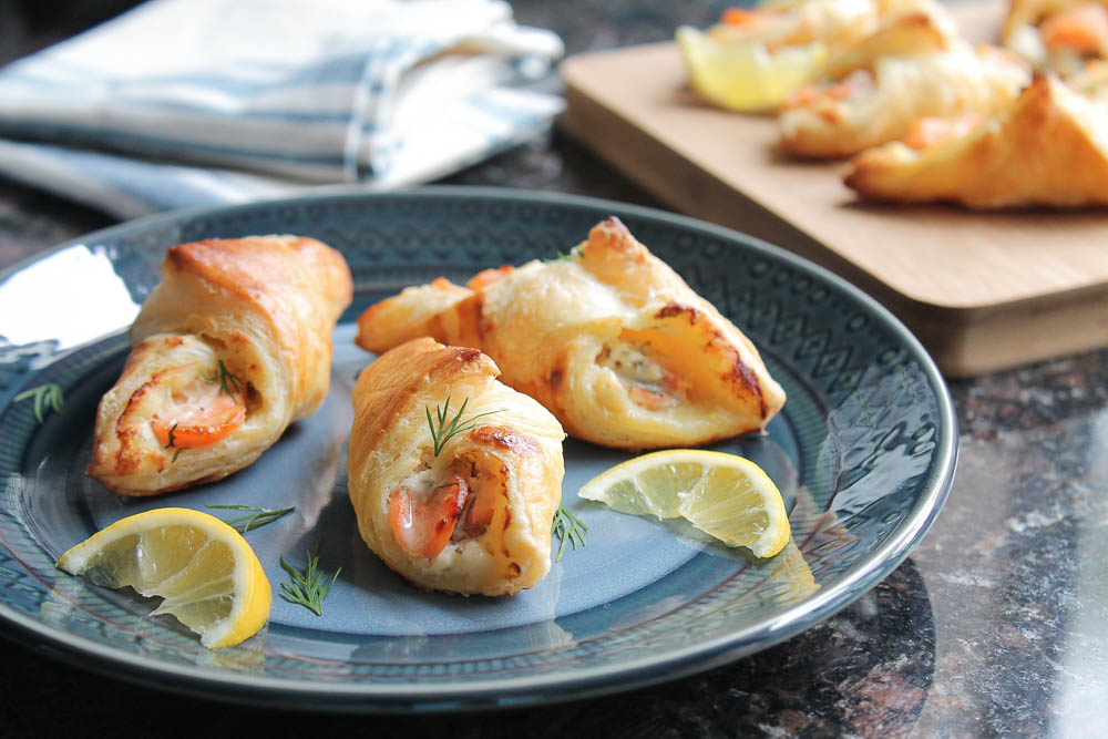 Salmon Pastry Appetizer